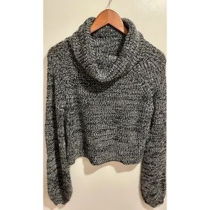 SHEIN Cowlneck Cropped Sweater One size